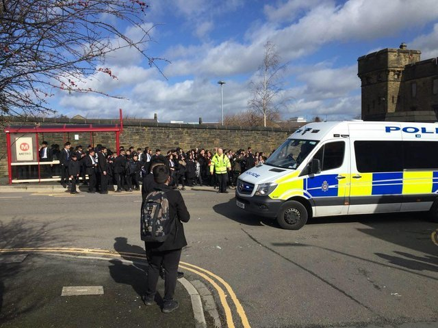 Police were called to a student protest at Halifax Academy last week.