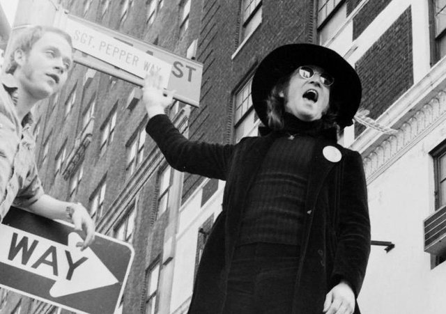 John Lennon in New York. A previously unseen picture by Robert Deutsch which will form part of an exhibition in Liverpool to mark the singer's 80th birthday.
