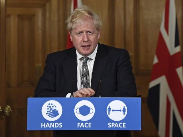 Prime Minister Boris Johnson during a media briefing in Downing Street, London, on coronavirus (COVID-19). Photo: PA