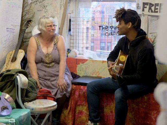 A scene from short film Joy Uncensored.