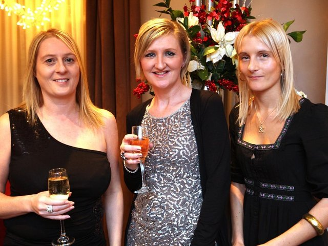 Brighouse Inner Wheel Christmas Dinner back in 2009. Jane Harrison, Sally Gooseman and Helen Sutcliffe.