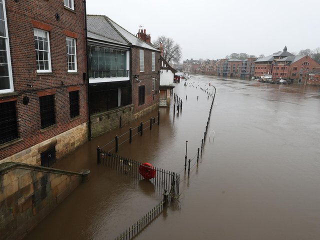 Flooding in York, Yorkshire, after the River Ouse burst its banks on Monday. Photo: PA