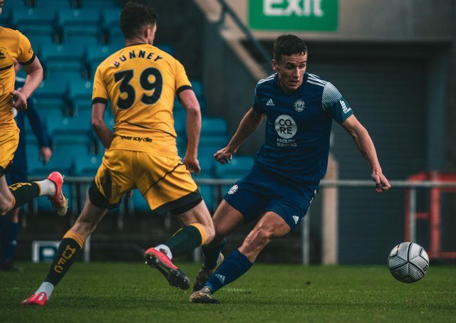 FC Halifax Town v Hartlepool at The Shay, December 19, 2020. Photo: Marcus Branston. Jeff King
