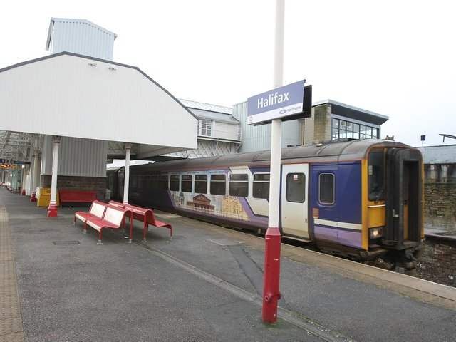 Halifax train station.