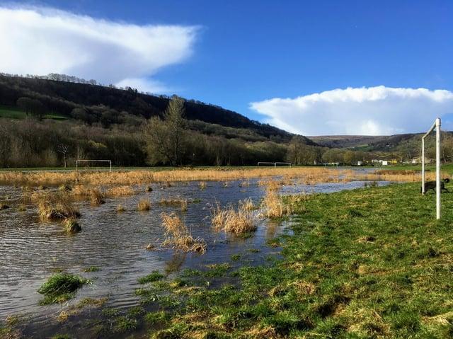 Brearley Fields when flooded.