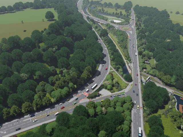 How it will look – artist's impressions of parts of the A629 Calder and Hebble scheme, courtesy of Calderdale Council