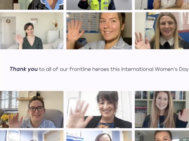 An emotional video celebrating the tireless efforts of female frontline heroes during the past 12 months has been unveiled.