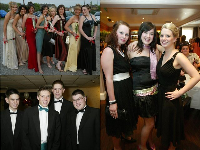 26 pictures of high school proms in Calderdale between 2003 and 2006