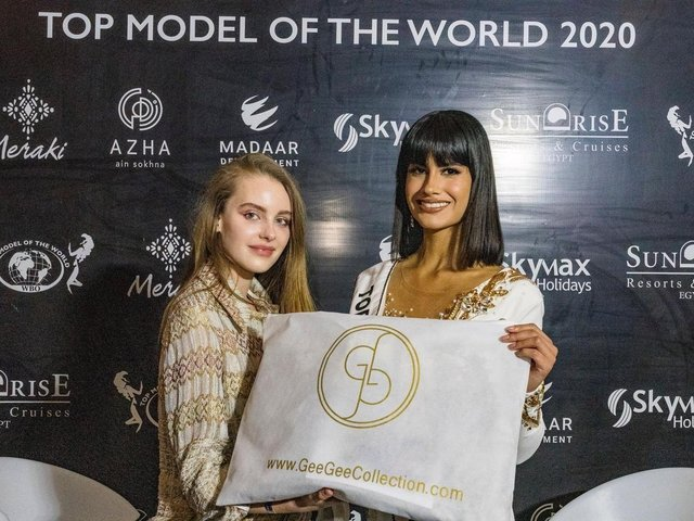 Georgina Crossley of GeeGee Collection on the judging panel of Top Model of the World in Hurgharda, Egypt to Crown Miss Peru 'Pierinna Patino Flores' the world title