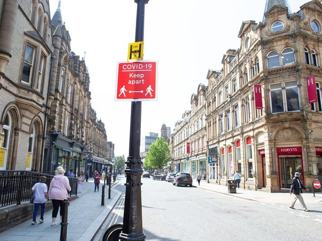 The areas of Halifax and Calderdale where Covid rates are rising or falling