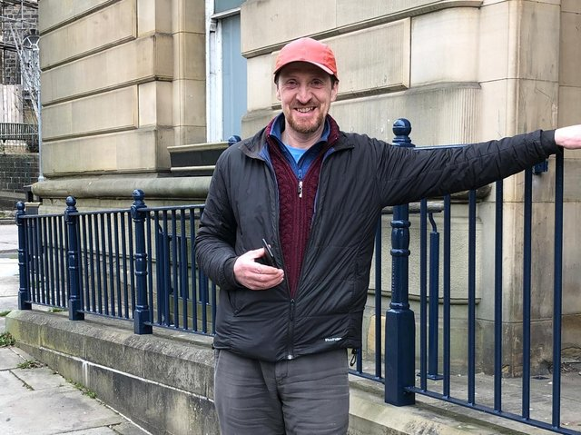 Jim Duffy, Todmorden Town Deal Board Member is delighted to see the railings restored of this much loved building in Todmorden