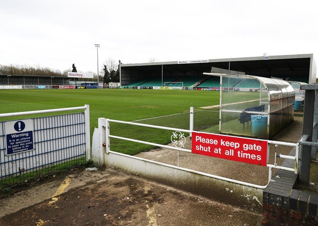 Eastleigh Football Club. (Photo by Naomi Baker/Getty Images)
