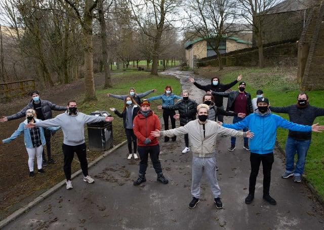 Callum Maher and friends doing 80km walk of Calderdale Way for mental health awareness