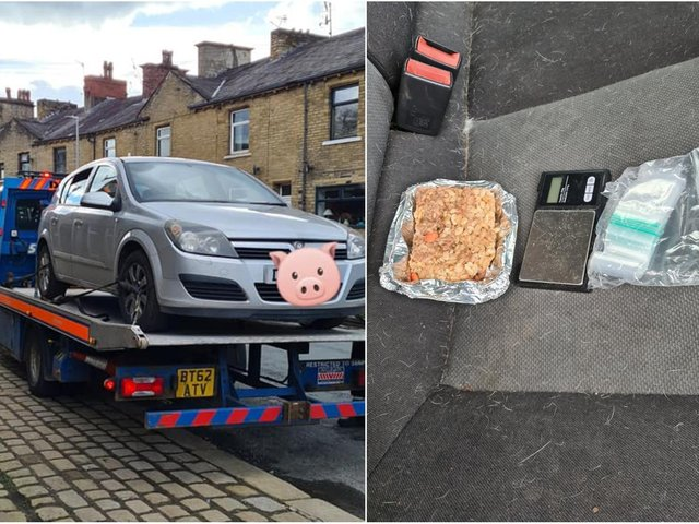 Police officers seized the car after it was abandoned by the driver