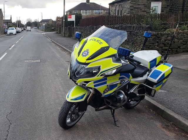 Police bike in Calderdale