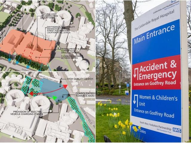 Plans at Calderdale Royal Hospital