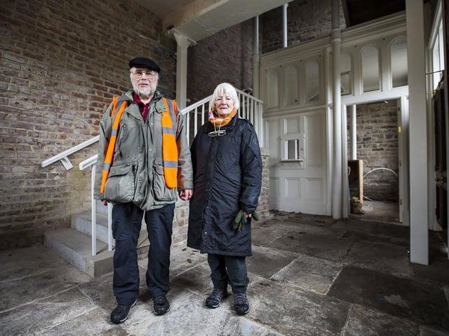 Geoff and Sue Mitchell, Chairman and Secretary of Mytholmroyd Station Partnership.