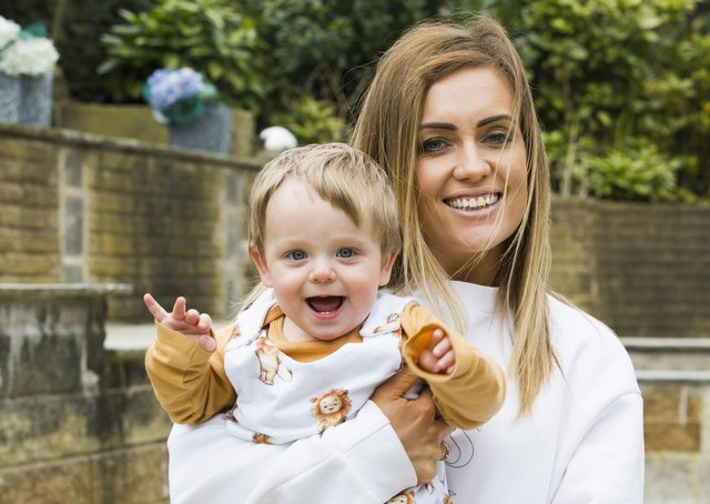 Melissa Fairbank with her one-year-old son Romeo.