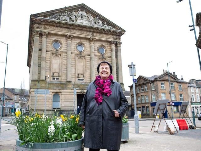 Mayor of Todmorden, Coun Ruth Coleman-Taylor.