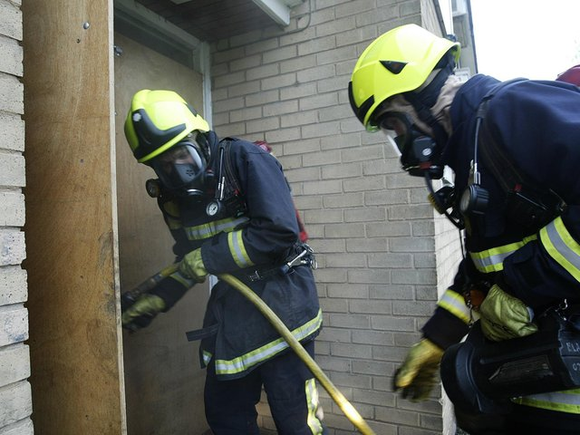 Firefighters tackled a kitchen fire in Queensbury