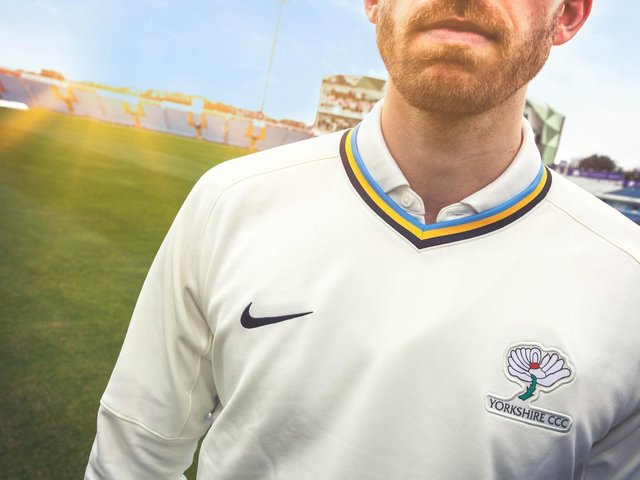LOOKING THE PART: Ben Coad in Yorkshire's new LV= Insurance County Championship kit