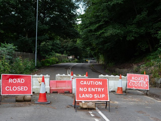 Park Road between Brighouse and Elland has been closed for than a year.