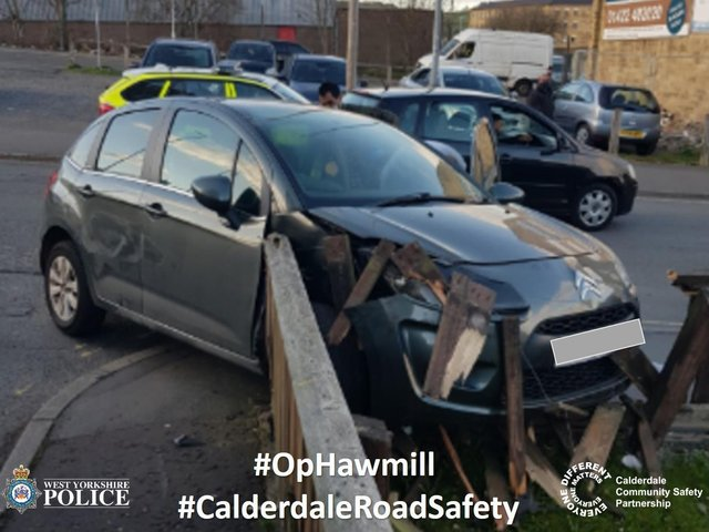 A driver was arrested following this crash (Picture West Yorkshire Police)