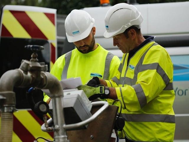 Yorkshire Water technicians