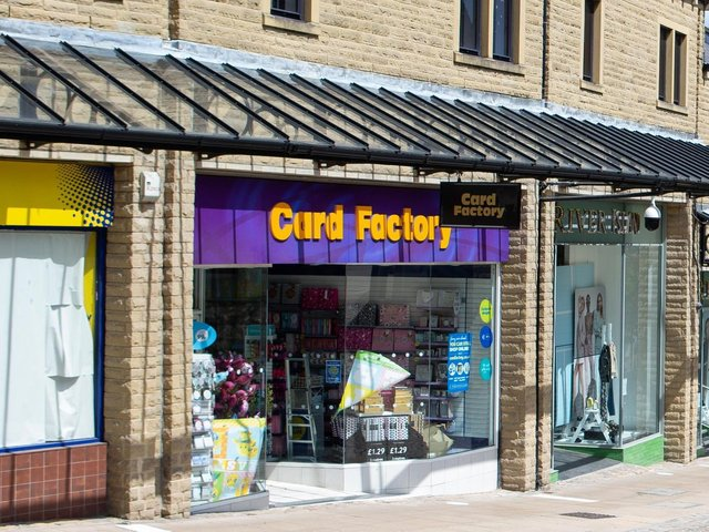 Card Factory in Halifax.