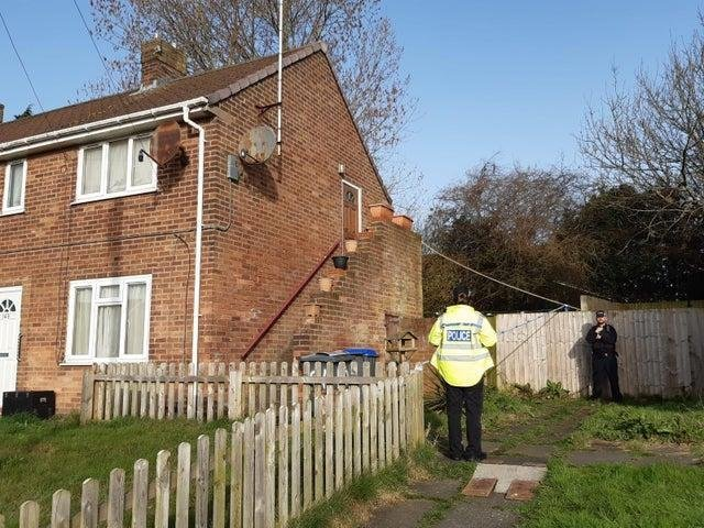 Police were called to a report of a stabbing at a home in Dinmore Avenue.