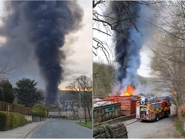 The fire in Halifax. Photos: Tim Robinson