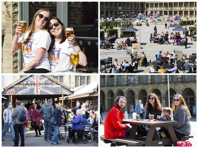17 pictures showing shoppers flock to Halifax and Brighouse for first weekend of re-opening