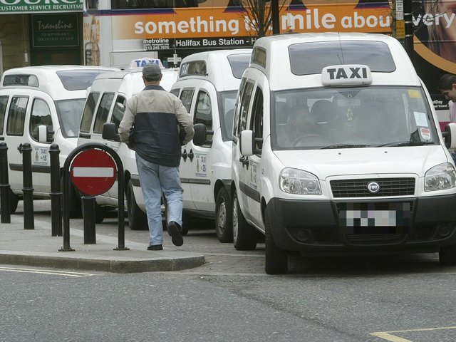 Taxis in Halifax town centre