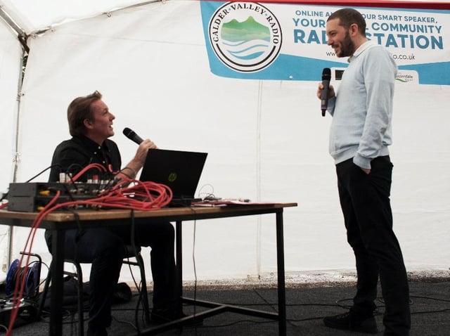Presenter Guy Parry and Jon Richardson