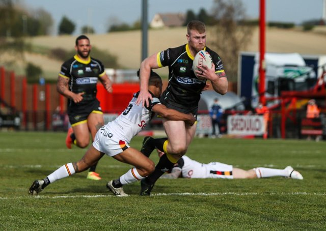 Narrow defeat: Halifax Panthers were unable to follow-up on their great start against Bradford Bulls last weekend. Picture: Simon Hall