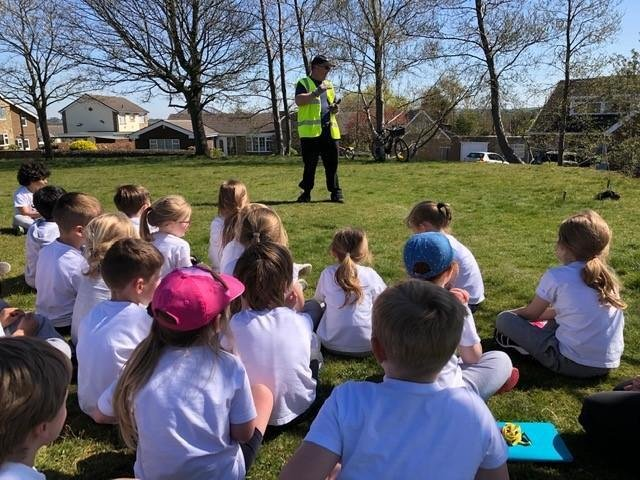 Clifton pupils help plant trees as part of a community project