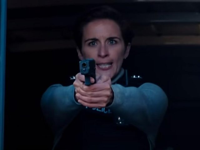 Ted Hastings (Adrian Dunbar), Steve Arnott (Martin Compston) and Kate Flemming (Vicky McClure) all star in the action-packed clip. (BBC)