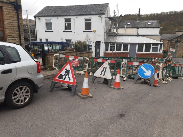 Roadworks are on Harley Street, Todmorden