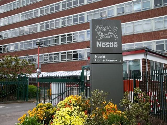 Nestle's factory in York