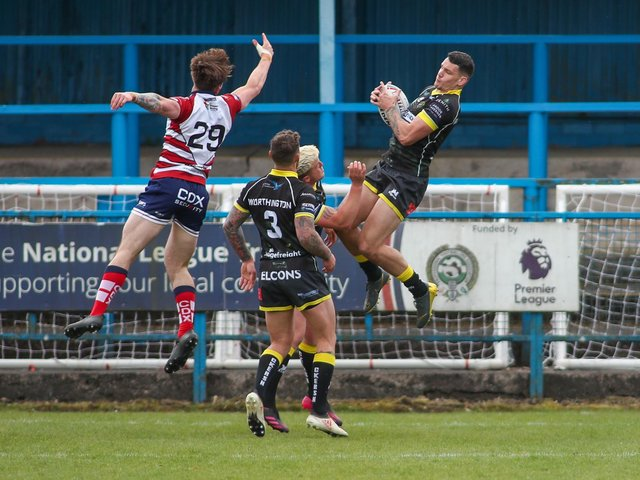 Action from Halifax's clash with Oldham