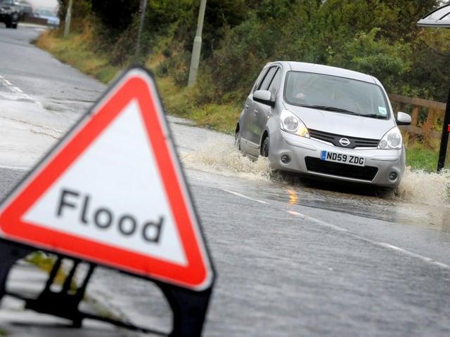 Flash flood warning in Calderdale