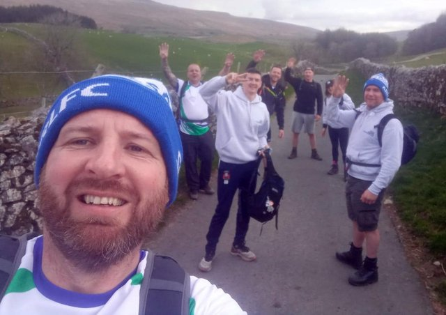 Gaz Newburn with some of the Triple Peak Challenge team