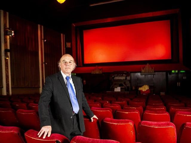 Charles Morris, owner of Rex cinema in Elland,