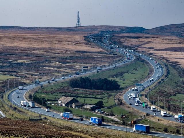 The M62 motorway