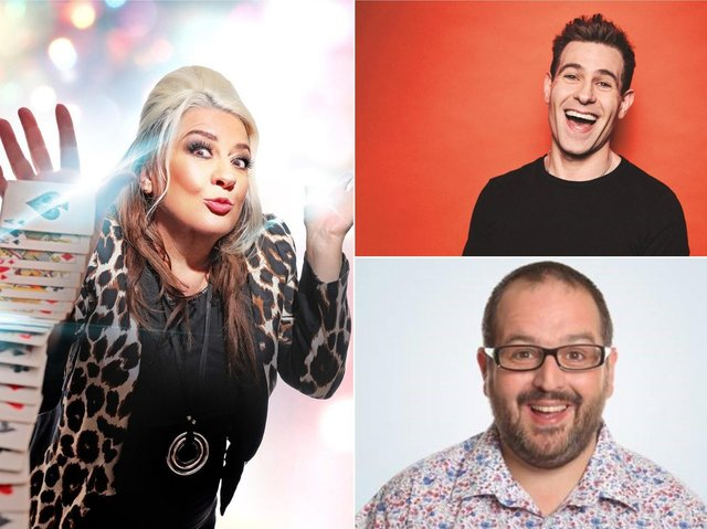 Mandy Muden, Simon Brodkin and Justin Moorhouse will be returning the Victoria Theatre