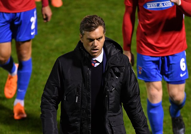 Daryl McMahon, manager of Dagenham & Redbridge. (Photo by Justin Setterfield/Getty Images)