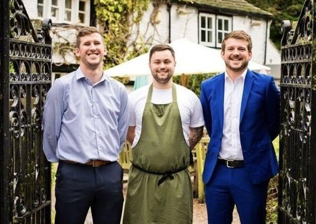 Max Heaton, Will Webster and Oliver Roberts from the Shibden Mill Inn