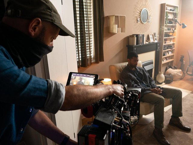 Aaron Cobham and DOP Mike Staniforth. Picture: Lisa Stonehouse