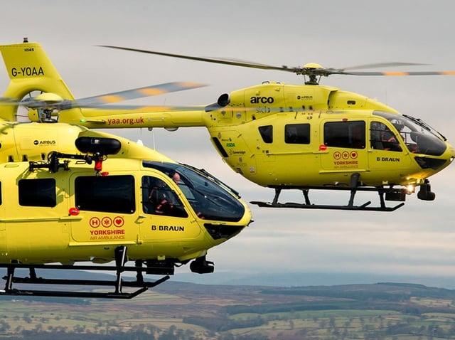 The existing Yorkshire Air Ambulance fleet