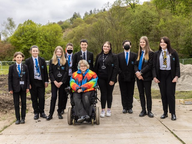 Students from Todmorden High School. Picture: Craig Shaw.